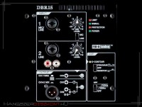 Yamaha DBR15-rear panel
