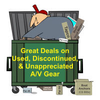 Great Deals on Used, Discontinued, & Otherwise Unappreciated A/V Gear