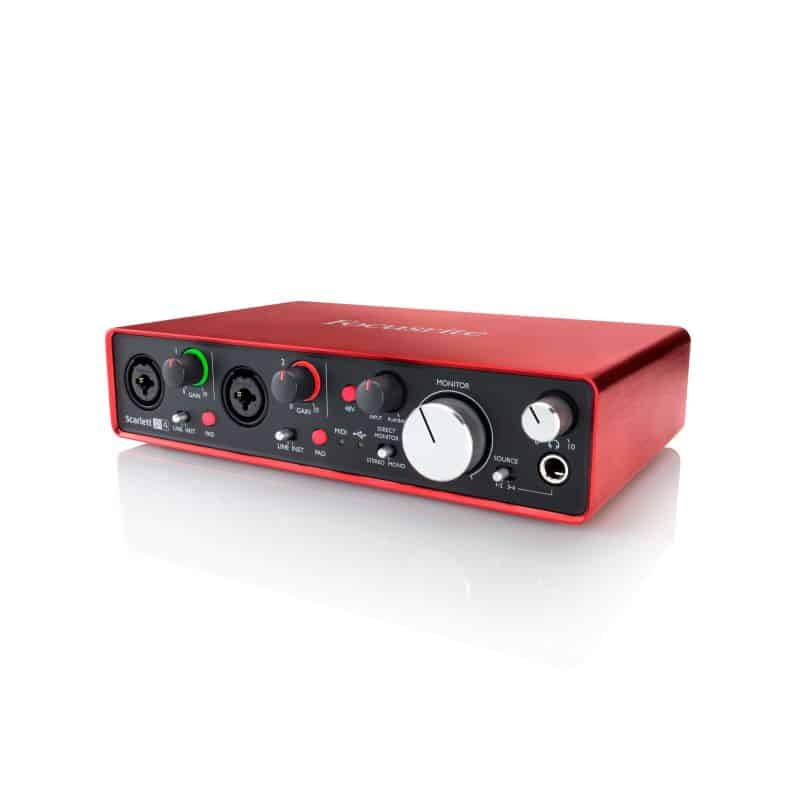 Focusrite Scarlett 2i4 2-in/4-out USB Audio Interface w/ Midi