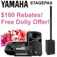 Yamaha STAGEPAS Mail-In Rebates & Free Products