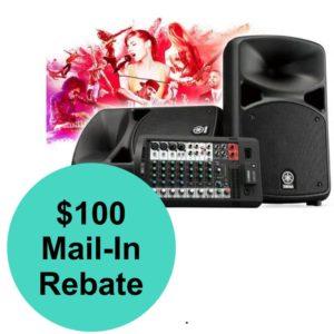 Yamaha StagePas 600BT $100 REBATE