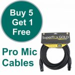Stage Sound Mic Cable Bundles
